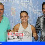 La sanmiguelera Cathaysa Delgado defenderá en Italia el título de campeona de Europa de Muay Thai