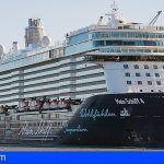 El 'Mein Schiff 4' estrena la nueva temporada de cruceros en San Sebastián de La Gomera