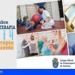 Los fisioterapeutas canarios celebran mañana 'en movimiento' el Día Mundial de la Fisioterapia