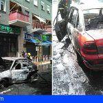 Bomberos de Tenerife extingue un incendio en un vehículo en la avenida de Los Majuelos