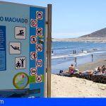 Prohibido el baño, de manera provisional, en la playa de Leocadio Machado