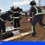 Los Bomberos de Tenerife participan en un simulacro de accidente aéreo en Los Rodeos