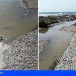 Se siguen produciendo vertidos de aguas fecales Junto al muelle (M3) en El Médano