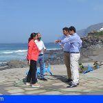 Inspeccionan las obras de la playa de Neptuno y las futuras de la playa de Los Guíos