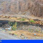 Extinguido el conato de incendio declarado en el Altito en Valle Gran Rey