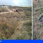 Rescatan en La Escalona a un motorista en estado grave tras precipitarse por un barranquillo