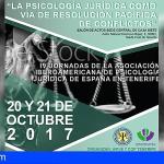 Expertos de Iberoamérica participarán en Tenerife en las IV Jornadas de Psicología Jurídica y Forense
