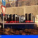 Bomberos de Tenerife intervienen en un derrame de ácido sulfúrico en la TF-4