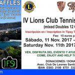 El Club de Leones organiza el IV Torneo Benéfico de Tenis en Los Gigantes