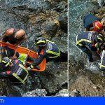Rescatan a una persona caída en la costa de Boca Cangrejo