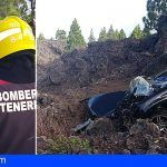 Bomberos de Tenerife intervienen en un accidente de tráfico en El Tanque