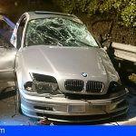 Bomberos de Tenerife intervienen en un accidente de tráfico en San Juan de la Rambla
