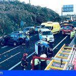 Cinco mujeres heridas tras colisión de varios vehículos en Santa Úrsula