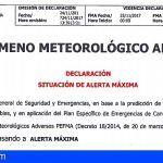 Seguridad y Emergencias DECLARA LA SITUACIÓN DE ALERTA MÁXIMA por LLUVIA