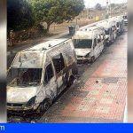 Ocho ambulancias de Transporte Sanitario «No Urgente» en Telde fueron quemadas