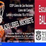 Continúa abierto en San Miguel el plazo de inscripción de la Escuela Municipal de Baloncesto