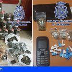 Intervinieron 2 kilos de marihuana y 275 gramos de hachís en Adeje y 25 gramos de cocaína en Arona