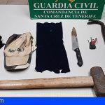Detenido conocido delincuente de Güímar que provocó un accidente frontal en la carretera Arafo-Güímar