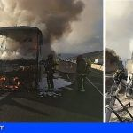 Incendio de una guagua en Güímar