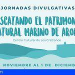 Arona saca a la superficie su patrimonio natural marino con conferencias, documentales, debate y exposiciones