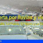 Alerta por Lluvia y Viento a partir de las 00:00 horas del 25 de Nov. Tenerife, La Palma, El Hierro y La Gomera