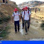 Cruz Roja envía tres delegados tinerfeños a Bangladesh para atender a la población desplazada