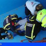 Rescatan a una persona que sufrió una caída a una piscina vacía en La Laguna