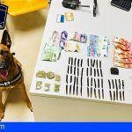 Dos detenidos en Arona por venta de drogas y les incautan centenares de euros en moneda extranjera