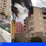 Cinco afectados de carácter leve tras el incendio en un edificio en Candelaría