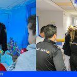 Los niños de los hospitales tinerfeños reciben la visita de la Policía Nacional