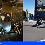 Bomberos liberan a un conductor en San Isidro y asiste a otro en Las Chafiras