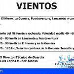 Se mantiene la alerta por Viento en El Hierro, La Gomera, Fuerteventura, Lanzarote, Tenerife y Gran Canaria
