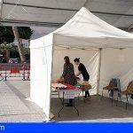 Habilitan una carpa de empaquetado gratuito para facilitar las compras en San Sebastián de La Gomera