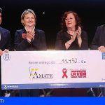 La Gala Benéfica LaLiga Promises en Arona recauda más de 11.000 euros para Ámate y Carrera por la vida
