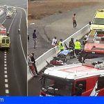 Una fallecida y tres heridos en un accidente de tráfico en Guía de Isora