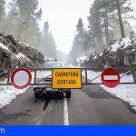 El Cabildo cierra todos los accesos al Teide debido a la presencia de hielo y nieve en la calzada