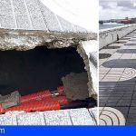 Daños en el muro de contención de la Avenida Marítima por el oleaje en Gran Canaria
