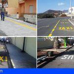 El Ayuntamiento de Granadilla acondiciona e instala nuevas paradas de guaguas y taxis