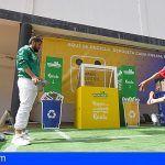 El Club Deportivo Mensajero y Ecoembes fomentan el reciclaje entre la afición palmera