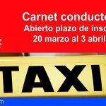Abierto el plazo para la obtención del Carnet municipal de Taxista