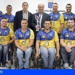 Deportes felicita al club Econy BSR, medalla de plata en la Copa del Rey de baloncesto en silla de ruedas