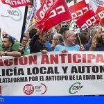 Más de 1500 policías locales de Canarias se manifiestan por una jubilación anticipada «YA»