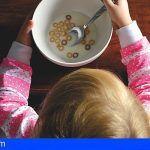 Un análisis realizado a más de 1.000 niños canarios revela que la mayoría no desayuna de forma saludable