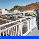 Concluida la nueva pasarela Los Naranjeros que cruza la TF-5, a la altura de Tacoronte