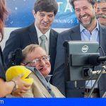 El Cabildo de Tenerife lamenta el fallecimiento del físico Stephen Hawking, Visitante Ilustre de la Isla