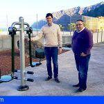 Deportes instala cuatro aparatos de gimnasia outdoor saludables en Puerto de Santiago