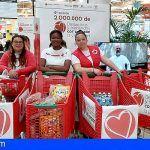 Cruz Roja recoge cerca de 36.000 desayunos y meriendas #ConCorazón en Tenerife