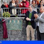 Inauguran en La Gomera la plaza Leoncio Bento en Agulo tras su remodelación