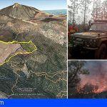 120 personas se movilizan en el incendio forestal de Granadilla