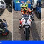 Gran éxito de los tres piloto canarios presentes en la primera carrera del campeonato de España de mini velocidad